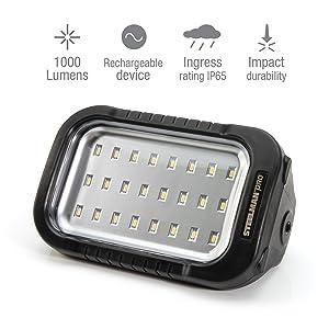 Steelman Pro Dura-Wedge 1,000 Lumen Rechargeable LED Work Light for Shop or Garage