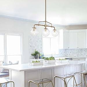 gold kitchen island lighting