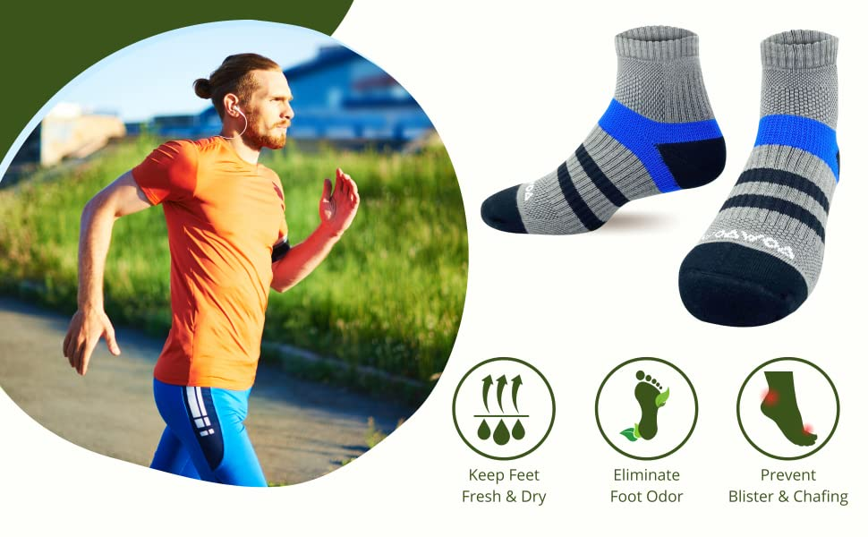 women men ankle quarter no sweat odor-resistant control smelly feet hiking running  moisture wick