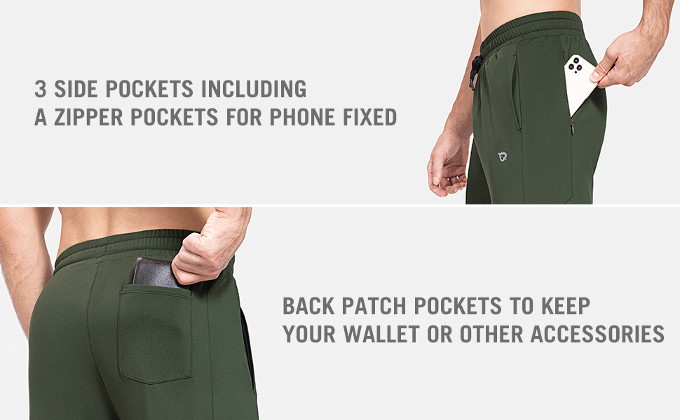 3 side pockets and a back patch