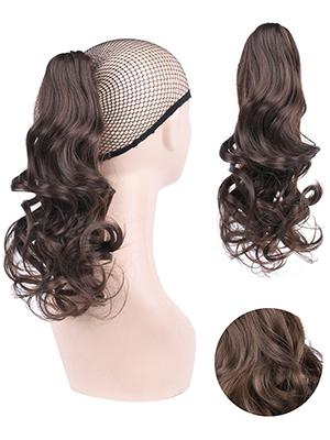 GIRLSHOW hairpiece ponytail extension accessory kid child thick holder wave fake faux clip-in comb