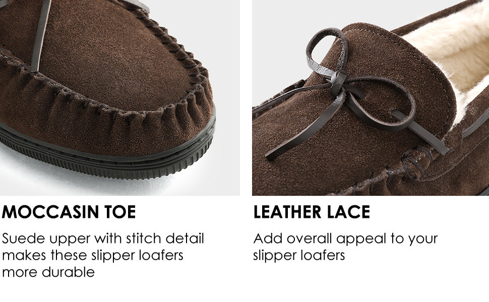 DREAM PAIRS Men's Fur-Loafer-01 Suede Slippers Loafers Shoes