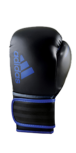 black blue 8 oz gloves boxing mma fitness training