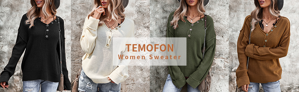 long sleeve knit tops pullover for women