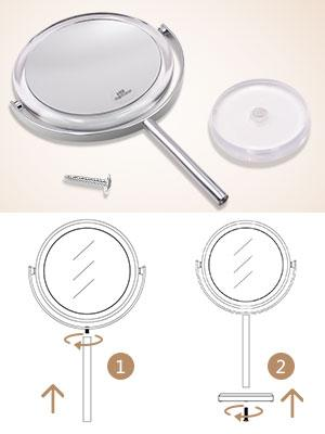 assemble magnifying mirror