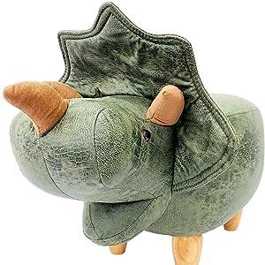 伊豆シャボテン本舗 恐竜 トリケラトプス 座れる動物 アニマル スツール ファブリック チェア 椅子 ベンチ