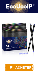 EooUooIP 60 Colours Fineliner Pens