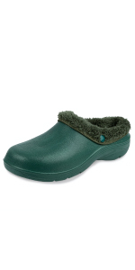 Mens garden clogs lined fluffy warm fleece lining soft winter garden shoes cosy comfortable