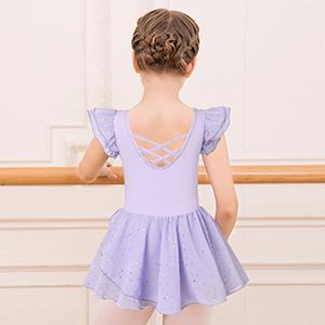 Purple Ballet Dance Leotard Dress