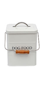 pet food container with handle and airtight seal