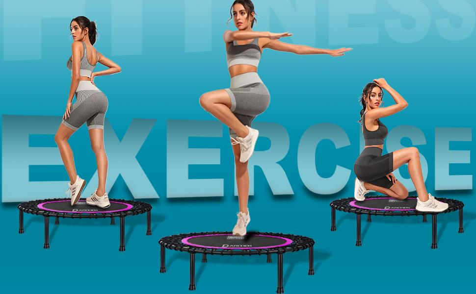 Rebounder Trampoline for Adults Workout Exercise and Fitness