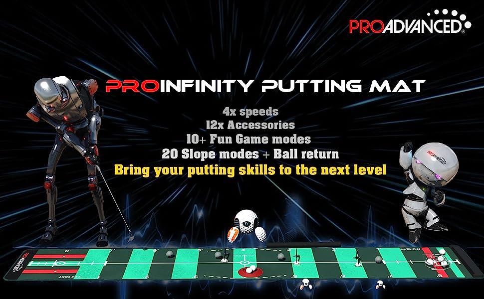 putting mat, practice, best, vary speeds, golf, professional