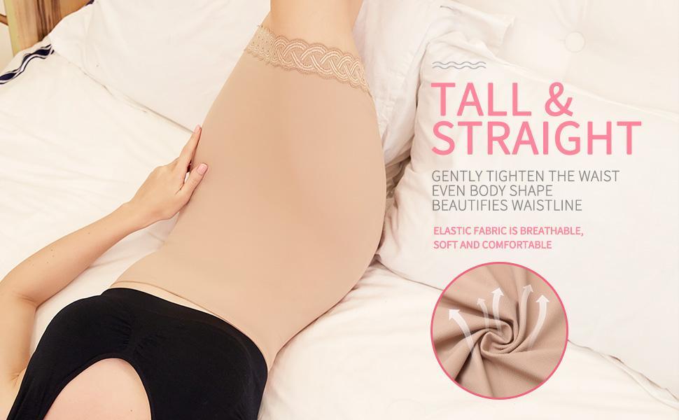 Shapewear Dress Slip for Under Dresses Half Slip Tummy Control Slimming Slip Body Shaper with Lace