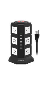Power Strip Tower with 5ft Cord