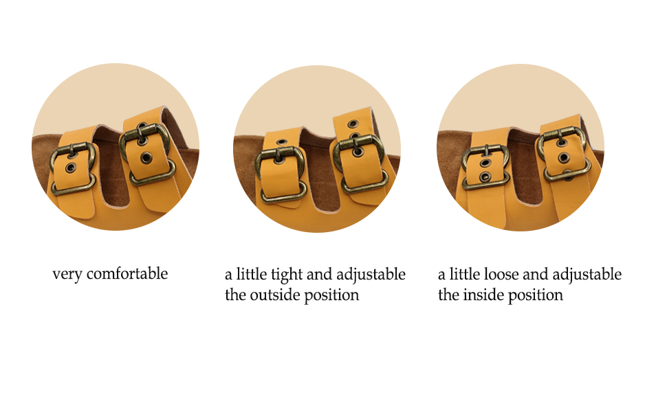 Double buckle, you can adjust the big and small, loose and tight