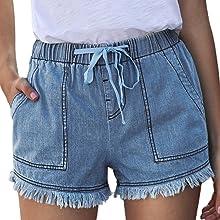 SWEET POISON denim shorts for women