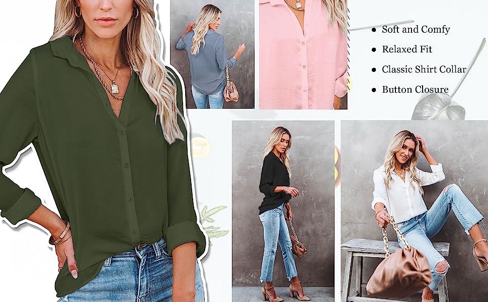 Button Up Shirt for Women