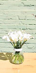 White calla lilies artificial flowers latex PU
