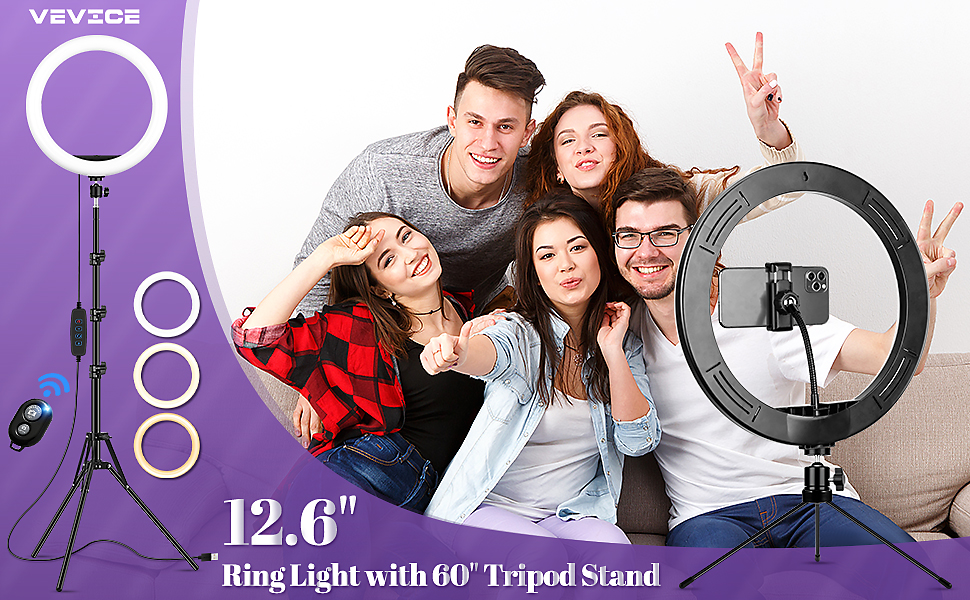 Ring Light with Tripod Stand & Phone Holder Tall