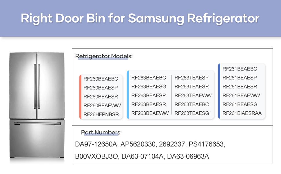 Right Refrigerator Door Shelf