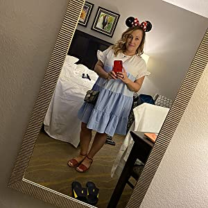 Womens boho babydoll flowy mini dress