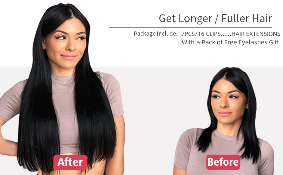 clip in hair extensions human hair for women