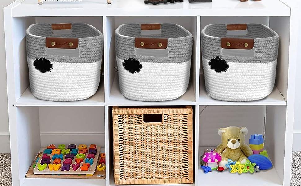 Woven Baskets for Shelves