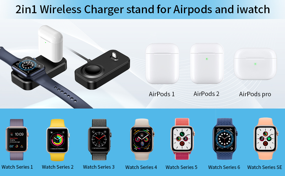 Charger for Apple Watch and Airpods
