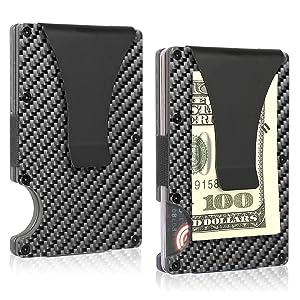 tarjetero pequeño pequeña cartera carteras tarjeta de credito hombre y mujer para metalico carbono