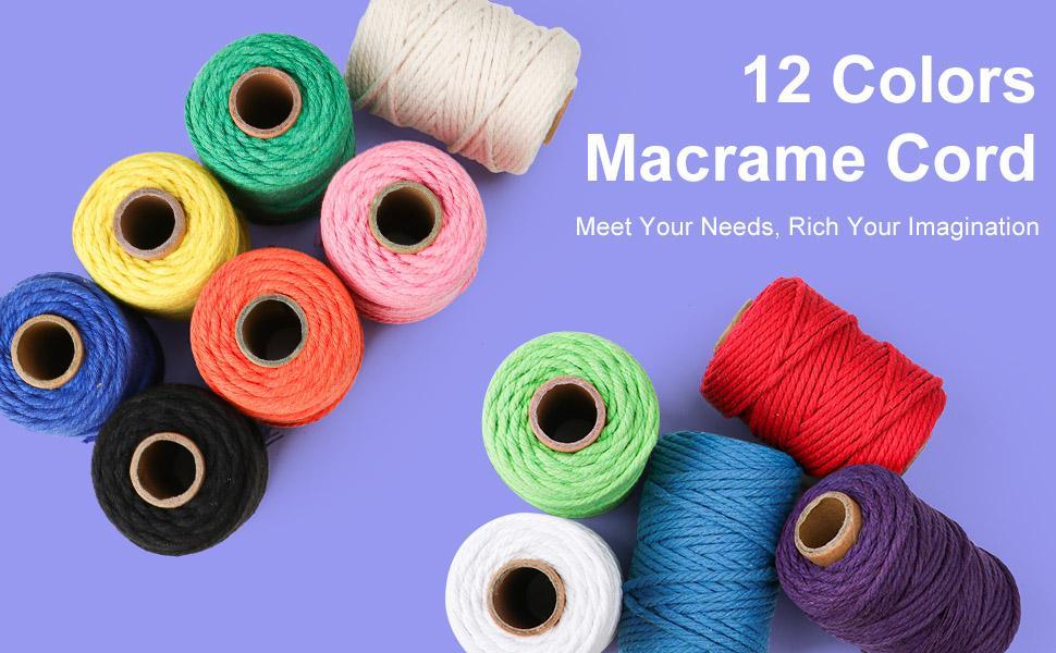 12 Colors Macrame Cord
