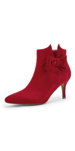 Womens Red Ankle Boots