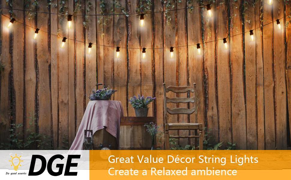 DGE Outdoor String Lights