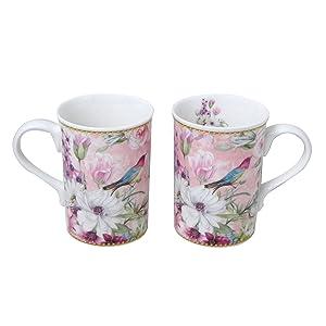 Lightahead Elegant Bone China Two Mugs set