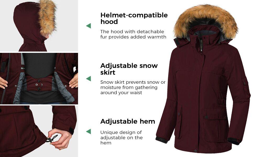 Wantdo Women's Snowboarding Jackets