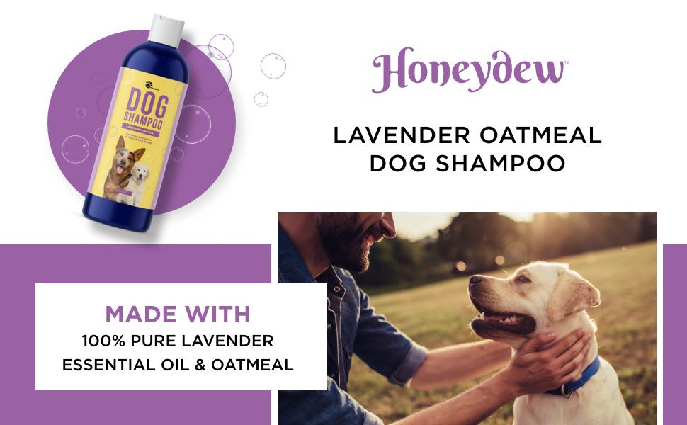Lavender Oatmeal Pet Shampoo For Dogs & Puppies