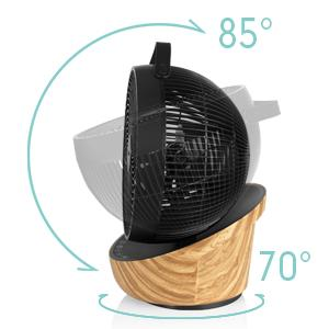 Le ventilo peut osciller verticalement et horizontalement