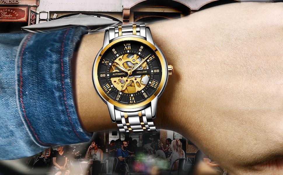 Waterproof mechanical men's watch casual fashion