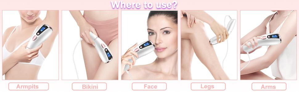 إزالة شعر الوجه للنساء