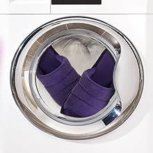 purple slippers for women