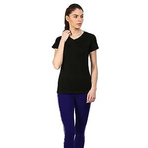 Ap'pulse Women's Short Sleeve Vneck 3 pcs Combo