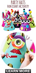DIY Party Hats Fun Craft Activity Kit - Birthday Games Activity Project