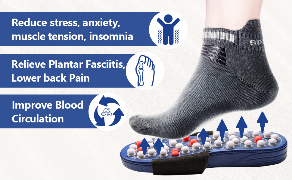 reduce stress anxiety foot pain, improve blood circulation