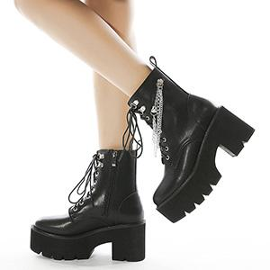 punk boots platform boots with chain