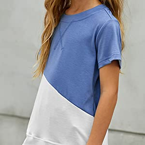 Striped/Color Block Short Sleeve Shirts