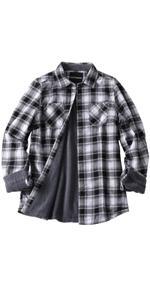 women fleece lined flannel shirt jacket