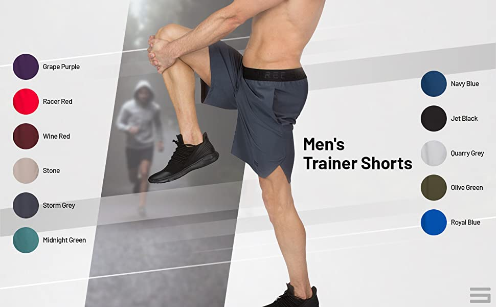 These men's gym shorts come in a variety of colors and sizes to choose from.