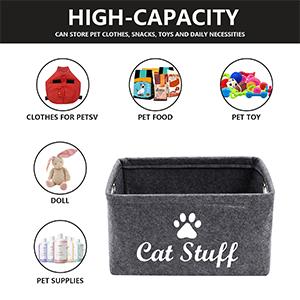cat storage dog food storage bin dog toy storage