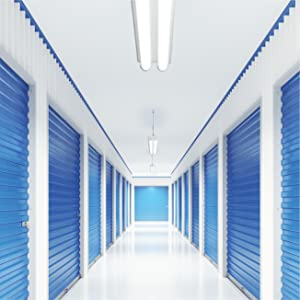 Metaux strip lighting features in a self storage hallway