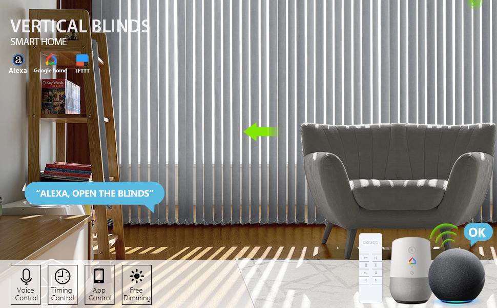 smart vertical blinds works with google