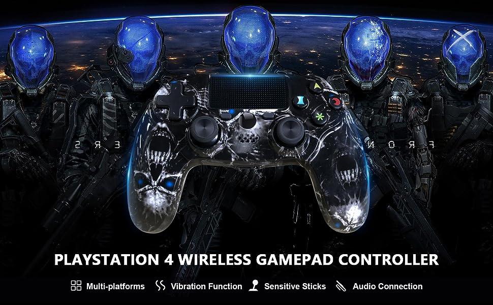 ps4 controller black skull